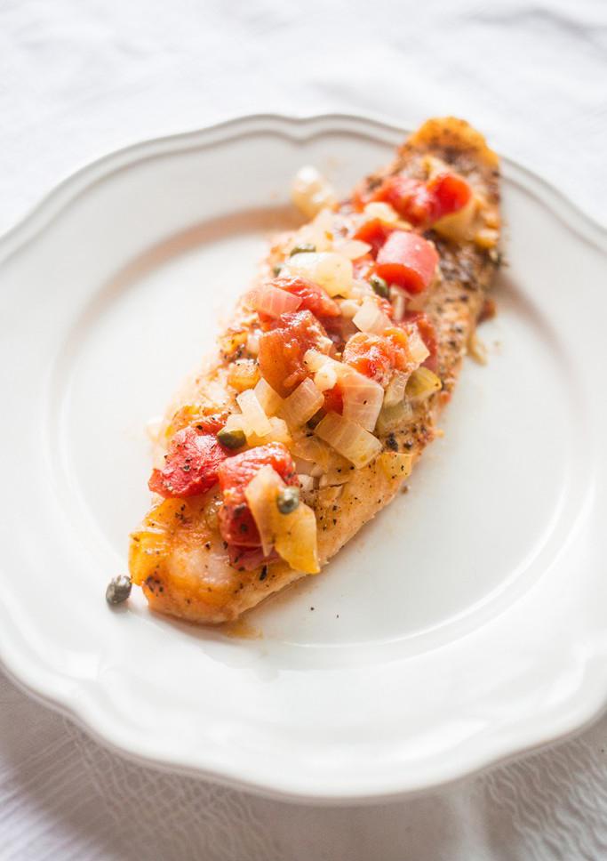 Tuscan Baked Fish