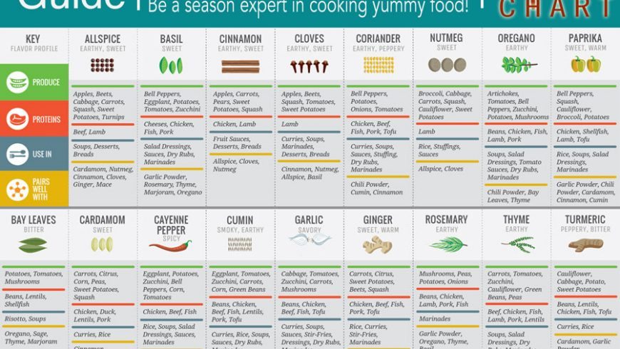 Cooking guide about SPICES by EarthOrigins Marketplace