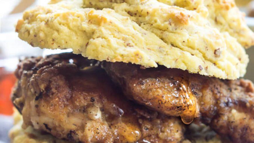 Paleo Fried Chicken Biscuits